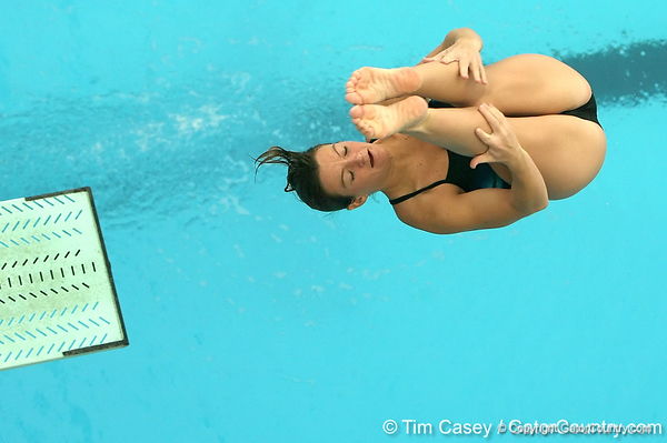 photo by Tim Casey<br /> <br /> Florida's Rachel Sowers competes in the 3 meter diving competition during the Gators' final home swimming and diving meet of the season on Saturday, January 31, 2009 at the Stephen C. O'Connell Center in Gainesville, Fla.
