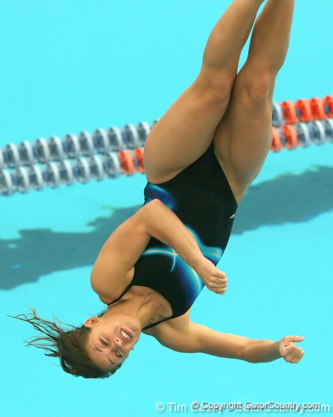 photo by Tim Casey<br /> <br /> Florida's Whitney Stern competes in the 3 meter diving competition during the Gators' final home swimming and diving meet of the season on Saturday, January 31, 2009 at the Stephen C. O'Connell Center in Gainesville, Fla.