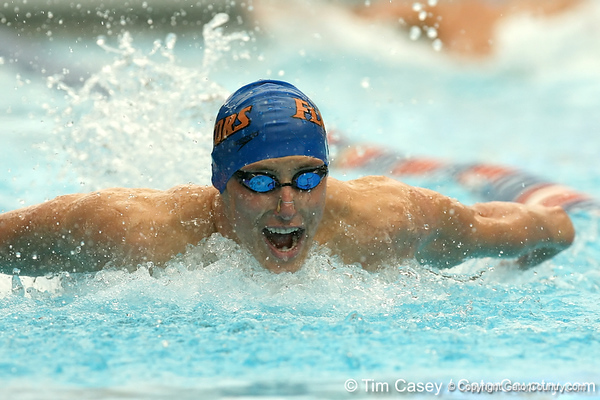 photo by Tim Casey<br /> <br /> competes in the 400 yard IM during the Gators' final home swimming and diving meet of the season on Saturday, January 31, 2009 at the Stephen C. O'Connell Center in Gainesville, Fla.