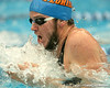photo by Tim Casey<br /> <br /> Florida's Robby Kennedy competes in the 200 yard breaststroke during the Gators' final home swimming and diving meet of the season on Saturday, January 31, 2009 at the Stephen C. O'Connell Center in Gainesville, Fla.