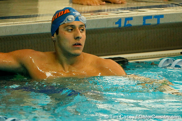men's 200-yard freestyle during the Gators' meet against the Florida Atlantic Owls on Saturday, January 14, 2012 at the Stephen C. O'Connell Center Natatorium in Gainesville, Fla. / Gator Country photo by Tim Casey