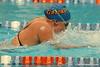 Florida freshman Rebecca Rainer competes in the women's 400-yard IM during the Gators' meet against the Florida Atlantic Owls on Saturday, January 14, 2012 at the Stephen C. O'Connell Center Natatorium in Gainesville, Fla. / Gator Country photo by Tim Casey