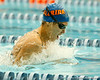 Florida junior Sarra Lajnef competes in the women's 100-yard breaststroke during the Gators' meet against the Florida Atlantic Owls on Saturday, January 14, 2012 at the Stephen C. O'Connell Center Natatorium in Gainesville, Fla. / Gator Country photo by Tim Casey