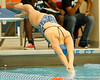 Florida senior Anna-Liisa Pold competes in the women's 200-yard butterfly during the Gators' meet against the Florida Atlantic Owls on Saturday, January 14, 2012 at the Stephen C. O'Connell Center Natatorium in Gainesville, Fla. / Gator Country photo by Tim Casey