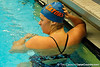 Florida sophomore Elizabeth Beisel finishes the women's 200-yard breaststroke during the Gators' meet against the Florida Atlantic Owls on Saturday, January 14, 2012 at the Stephen C. O'Connell Center Natatorium in Gainesville, Fla. / Gator Country photo by Tim Casey
