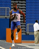 Florida freshman Marquis Dendy competes in the triple jump during the Gator Invite indoor track meet on Sunday, January 22, 2012 at the Stephen C. O'Connell Center in Gainesville, Fla. / Gator Country photo by Tim Casey