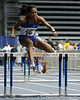 Florida junior Paige Morton competes in the 55 meter hurdles during the Gator Invite indoor track meet on Sunday, January 22, 2012 at the Stephen C. O'Connell Center in Gainesville, Fla. / Gator Country photo by Tim Casey