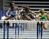 Florida junior Ugonna Ndu competes in the 55 meter hurdles during the Gator Invite indoor track meet on Sunday, January 22, 2012 at the Stephen C. O'Connell Center in Gainesville, Fla. / Gator Country photo by Tim Casey