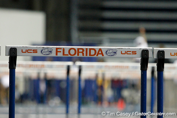 during the Gator Invite indoor track meet on Sunday, January 22, 2012 at the Stephen C. O'Connell Center in Gainesville, Fla. / Gator Country photo by Tim Casey