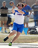 Florida sophomore David Levin competes in the weight throw during the Gator Invite indoor track meet on Sunday, January 22, 2012 at the Stephen C. O'Connell Center in Gainesville, Fla. / Gator Country photo by Tim Casey