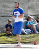 Florida junior Jeremy Postin competes in the weight throw during the Gator Invite indoor track meet on Sunday, January 22, 2012 at the Stephen C. O'Connell Center in Gainesville, Fla. / Gator Country photo by Tim Casey
