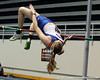 Florida freshman Taylor Burke competes in the high jump during the Gator Invite indoor track meet on Sunday, January 22, 2012 at the Stephen C. O'Connell Center in Gainesville, Fla. / Gator Country photo by Tim Casey