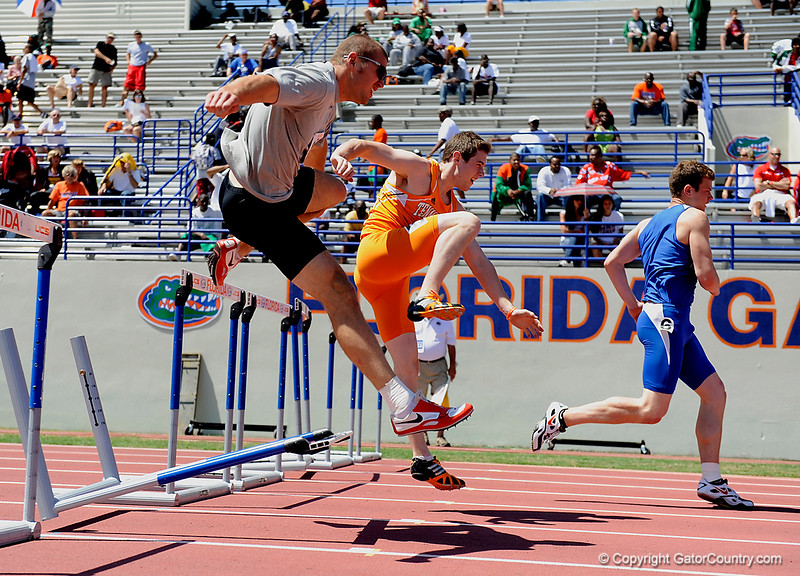 University of Florida track and field athletes compete in day one of the 65th-annual Pepsi Florida Relays at James G. Pressly Stadium at Percy Beard Track on Friday, April 3, 2009 in Gainesville, Fla. / Gator Country photo by Casey Brooke Lawson