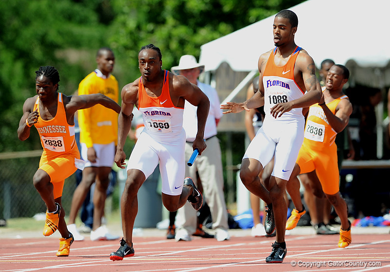 University of Florida track and field athletes compete in day one of the 65th-annual Pepsi Florida Relays at James G. Pressly Stadium at Percy Beard Track on Saturday, April 4, 2009 in Gainesville, Fla. / Gator Country photo by Casey Brooke Lawson
