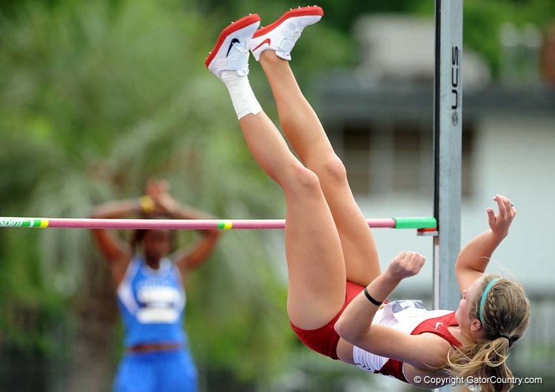SEC athletes compete in the women's heptathlon and men's decathlon events on Thursday, May 14, 2009 in Gainesville, Fla. at Percy Beard Track at James G. Pressly Stadium. / Gator Country photo by Casey Brooke Lawson