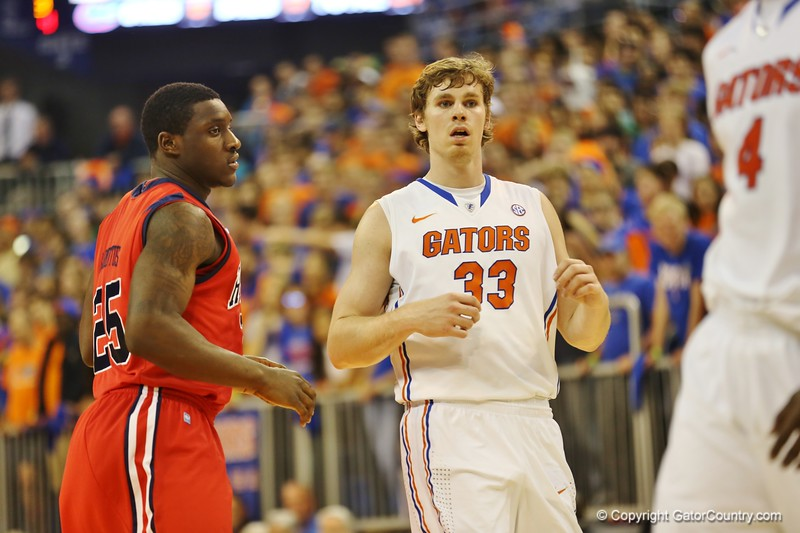 Eric Murphy during Florida Gators (18-2, 8-0 SEC) win 78-64 against Ole Miss Rebels (17-4, 6-2 SEC) on Saturday, Jan. 12, 2012, at the Stephen C. O'Connell Center in Gainesville, Fla. / Gator Country photo by John Parady