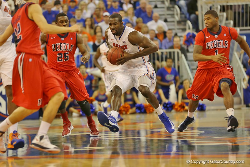 Patrick Young during Florida Gators (18-2, 8-0 SEC) win 78-64 against Ole Miss Rebels (17-4, 6-2 SEC) on Saturday, Jan. 12, 2012, at the Stephen C. O'Connell Center in Gainesville, Fla. / Gator Country photo by John Parady
