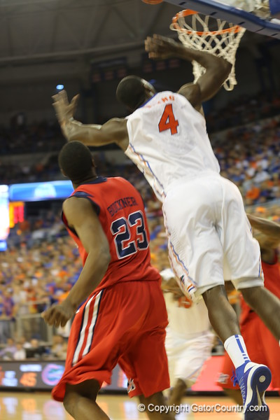 Patric Young during Florida Gators (18-2, 8-0 SEC) win 78-64 against Ole Miss Rebels (17-4, 6-2 SEC) on Saturday, Jan. 12, 2012, at the Stephen C. O'Connell Center in Gainesville, Fla. / Gator Country photo by John Parady