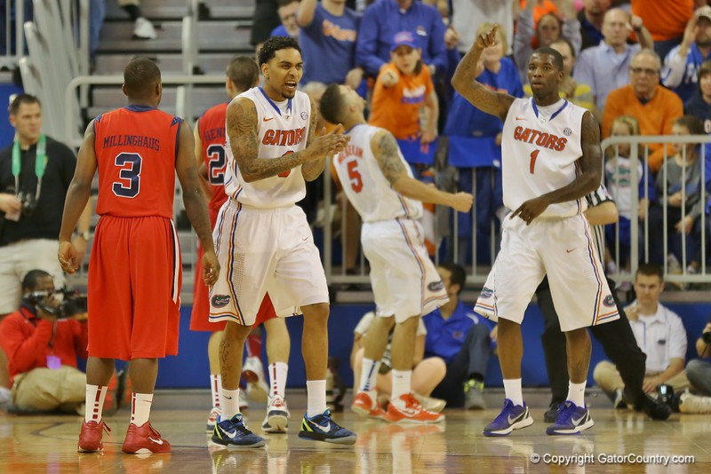 Florida Gators (18-2, 8-0 SEC) win 78-64 against Ole Miss Rebels (17-4, 6-2 SEC) on Saturday, Jan. 12, 2012, at the Stephen C. O'Connell Center in Gainesville, Fla. / Gator Country photo by John Parady