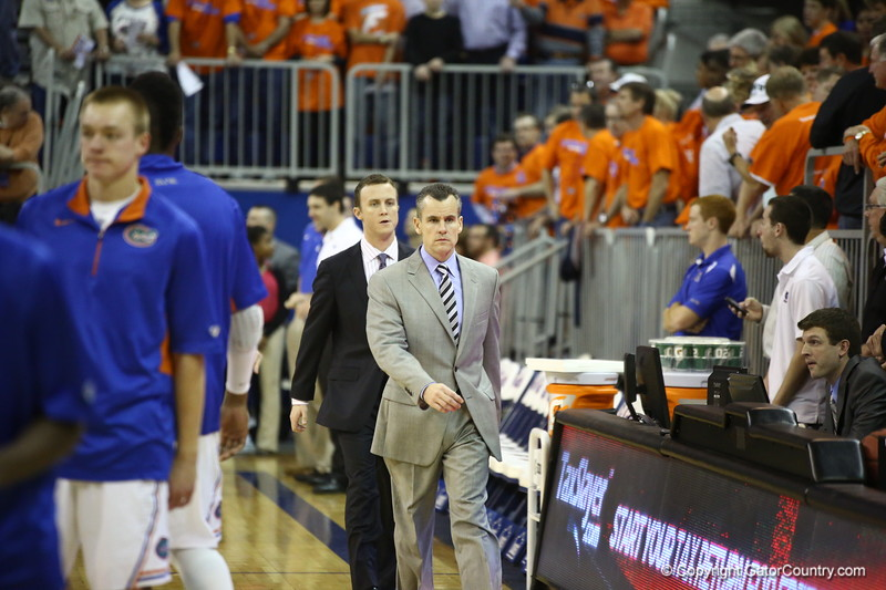 Billy Donovan During the Gators 83-52 win over Missouri on January 19, 2013 at the Stephen C O'Connell Center in Gainesville, Florida. Gatorcountry photo by Curtiss Bryant