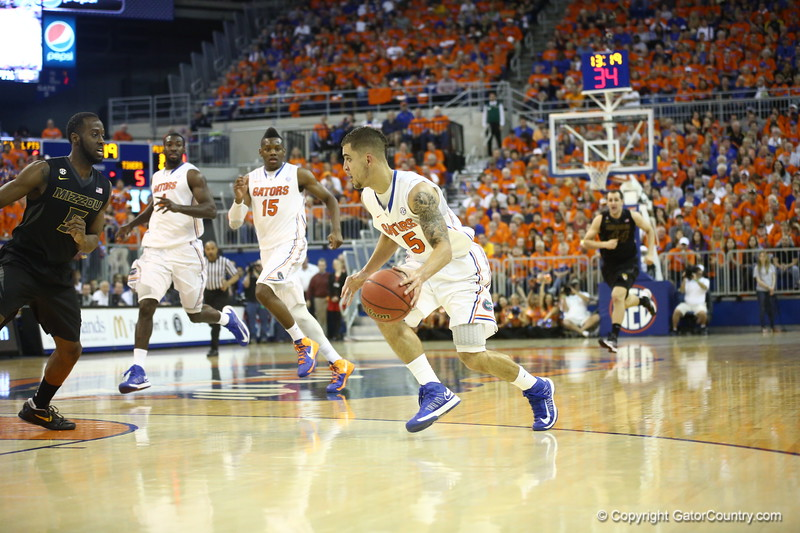 Scottie Wilbekin during the Gators 83-52 win over Missouri on January 19, 2013 at the Stephen C O'Connell Center in Gainesville, Florida. Gatorcountry photo by Curtiss Bryant