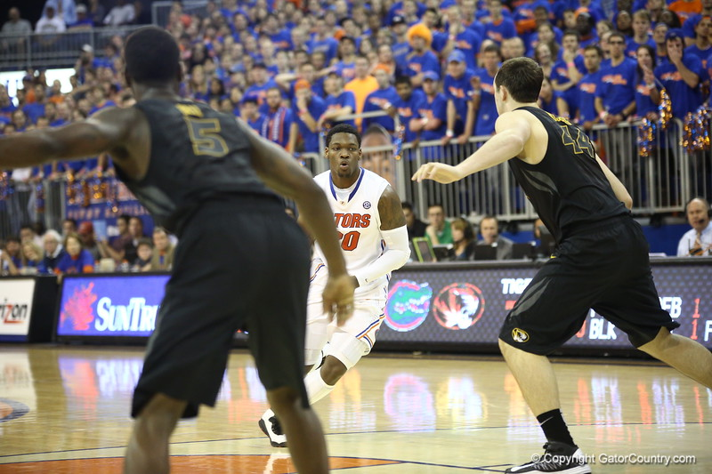 Michael Frazier II during the Gators 83-52 win over Missouri on January 19, 2013 at the Stephen C O'Connell Center in Gainesville, Florida. Gatorcountry photo by Curtiss Bryant