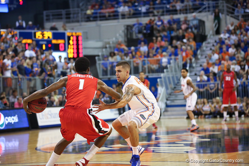 Scottie Wilbekin during Florida Gators 77-44 win against Georgia on Wednesday, January 9th, 2013, at the Stephen C. O'Connell Center in Gainesville, Fla. / GatorCountry photo by Curtiss Bryant