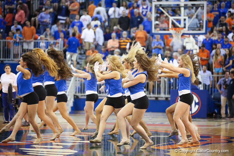 Cheerleaders during Florida Gators 77-44 win against Georgia on Wednesday, January 9th, 2013, at the Stephen C. O'Connell Center in Gainesville, Fla. / GatorCountry photo by Curtiss Bryant