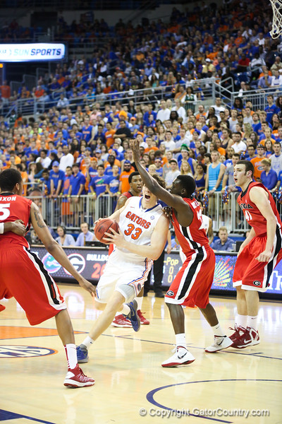 Erik Murphy during Florida Gators 77-44 win against Georgia on Wednesday, January 9th, 2013, at the Stephen C. O'Connell Center in Gainesville, Fla. / GatorCountry photo by Curtiss Bryant