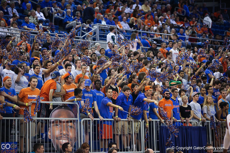 Crowd during Florida Gators 77-44 win against Georgia on Wednesday, January 9th, 2013, at the Stephen C. O'Connell Center in Gainesville, Fla. / GatorCountry photo by Curtiss Bryant