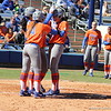 Senior Kelsey Horton with her teammates after her home run during the Gators' 9-1 win against UNC Wilmington on Saturday, February 17, 2013, at Katie Seashole Pressly Stadium in Gainesville, Fla. / Gator Country photo by Danielle Bloch
