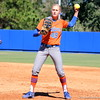 Freshman Taylor Schwarz throwing the ball during the Gators' 9-1 win against UNC Wilmington on Saturday, February 17, 2013, at Katie Seashole Pressly Stadium in Gainesville, Fla. / Gator Country photo by Danielle Bloch