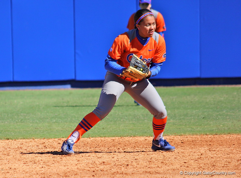 Freshman Kelsey Stewart during the Gators' 9-1 win against UNC Wilmington on Saturday, February 17, 2013, at Katie Seashole Pressly Stadium in Gainesville, Fla. / Gator Country photo by Danielle Bloch