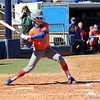 Ensley Gammel about to swing the bat during the Gators' 9-1 win against UNC Wilmington on Saturday, February 17, 2013, at Katie Seashole Pressly Stadium in Gainesville, Fla. / Gator Country photo by Danielle Bloch