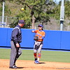 Sophomore Kathlyn Medina throwing the ball during the Gators' 9-1 win against UNC Wilmington on Saturday, February 17, 2013, at Katie Seashole Pressly Stadium in Gainesville, Fla. / Gator Country photo by Danielle Bloch