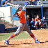 Kelsey Horton after hitting the ball during the Gators' 9-1 win against UNC Wilmington on Saturday, February 17, 2013, at Katie Seashole Pressly Stadium in Gainesville, Fla. / Gator Country photo by Danielle Bloch