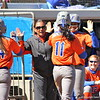 Jessica Damico and Ensley Gammel after scoring during the Gators' 9-1 win against UNC Wilmington on Saturday, February 17, 2013, at Katie Seashole Pressly Stadium in Gainesville, Fla. / Gator Country photo by Danielle Bloch