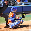 Freshman Aubree Munro catching the ball during the Gators' 9-1 win against UNC Wilmington on Saturday, February 17, 2013, at Katie Seashole Pressly Stadium in Gainesville, Fla. / Gator Country photo by Danielle Bloch
