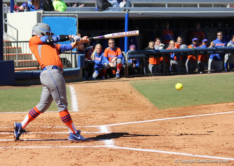 Junior Stephanie Tofft at bat during the Gators' 9-1 win against UNC Wilmington on Saturday, February 17, 2013, at Katie Seashole Pressly Stadium in Gainesville, Fla. / Gator Country photo by Danielle Bloch