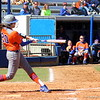 Senior Kelsey Horton swinging the bat during the Gators' 9-1 win against UNC Wilmington on Saturday, February 17, 2013, at Katie Seashole Pressly Stadium in Gainesville, Fla. / Gator Country photo by Danielle Bloch