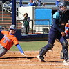 Senior Ensley Gammel sliding home during the Gators' 9-1 win against UNC Wilmington on Saturday, February 17, 2013, at Katie Seashole Pressly Stadium in Gainesville, Fla. / Gator Country photo by Danielle Bloch