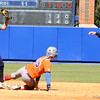 Freshman Taylor Schwarz after sliding to second base during the Gators' 9-1 win against UNC Wilmington on Saturday, February 17, 2013, at Katie Seashole Pressly Stadium in Gainesville, Fla. / Gator Country photo by Danielle Bloch
