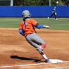 Freshman Kelsey Stewart reaching first base during the Gators' 9-1 win against UNC Wilmington on Saturday, February 17, 2013, at Katie Seashole Pressly Stadium in Gainesville, Fla. / Gator Country photo by Danielle Bloch