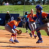 Junior Stephanie Tofft picking up the ball during the Gators' 9-1 win against UNC Wilmington on Saturday, February 17, 2013, at Katie Seashole Pressly Stadium in Gainesville, Fla. / Gator Country photo by Danielle Bloch