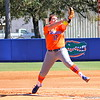 Sophomore Lauren Haeger pitching during the Gators' 9-1 win against UNC Wilmington on Saturday, February 17, 2013, at Katie Seashole Pressly Stadium in Gainesville, Fla. / Gator Country photo by Danielle Bloch