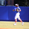 Sophomore Briana Little running back to the dugout after warming up during the Gator's softball game against University of Tennessee on Saturday March 16, 2013, at Katie Seashole Pressly Stadium in Gainesville, Fla. / Gator Country photo by Danielle Bloch