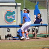 Junior Stephanie Tofft chasing a foul ball that landed in the press box during the Gator's softball game against University of Tennessee on Saturday March 16, 2013, at Katie Seashole Pressly Stadium in Gainesville, Fla. / Gator Country photo by Danielle Bloch