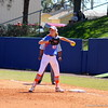 Freshman Taylor Schwarz throwing the ball in the middle of a play during the Gator's softball game against University of Tennessee on Saturday March 16, 2013, at Katie Seashole Pressly Stadium in Gainesville, Fla. / Gator Country photo by Danielle Bloch