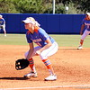 Freshman Taylor Schwarz anticipating the play during the Gator's softball game against University of Tennessee on Saturday March 16, 2013, at Katie Seashole Pressly Stadium in Gainesville, Fla. / Gator Country photo by Danielle Bloch