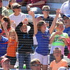 Fans cheering during the Gator's softball game against University of Tennessee on Saturday March 16, 2013, at Katie Seashole Pressly Stadium in Gainesville, Fla. / Gator Country photo by Danielle Bloch